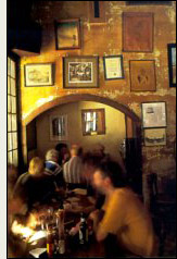 Image of a pub from the cover of Oldenburg's The Great Good Place